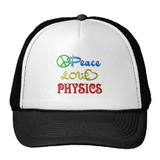 PEACE LOVE PHYSICS MESH HATS