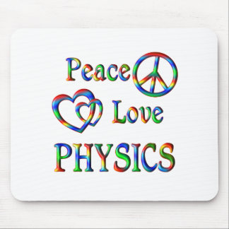 Peace Love PHYSICS Mouse Pads