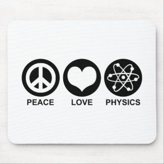 Peace Love Physics Mousepads