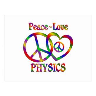 Peace Love Physics Post Card