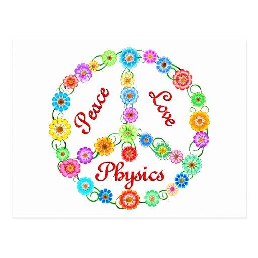 Peace Love Physics Postcard