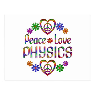 Peace Love Physics Postcards