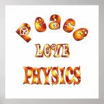 PEACE LOVE PHYSICS PRINT