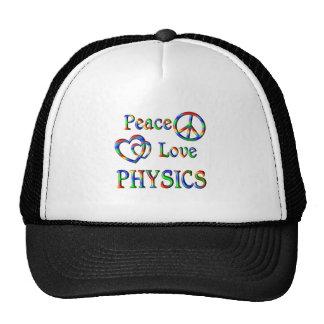 Peace Love PHYSICS Trucker Hats