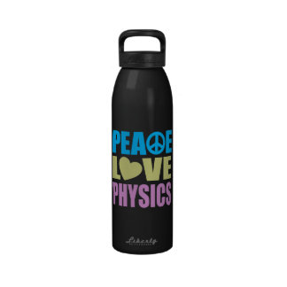 Peace Love Physics Drinking Bottle