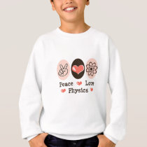 Peace Love Physics Youth Sweatshirt