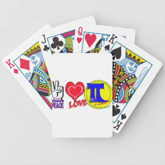 PEACE LOVE Pi 3.1415 Bicycle Playing Cards