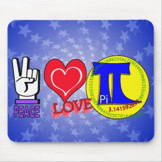 PEACE LOVE Pi 3.1415 Mouse Pad