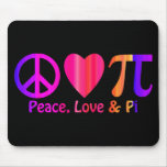Peace Love & Pi Bright Neon Mouse Pad