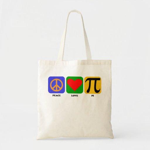 Peace Love Pi Budget Tote Bag