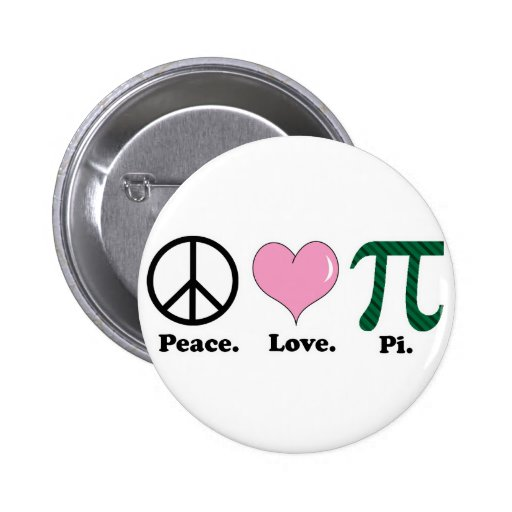 peace love pi buttons
