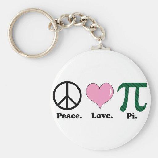 peace love pi key chains