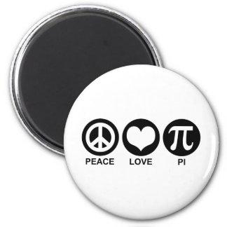 Peace Love Pi Magnet