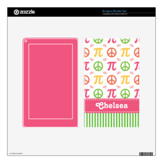Peace Love Pi Math Kindle Fire Skin