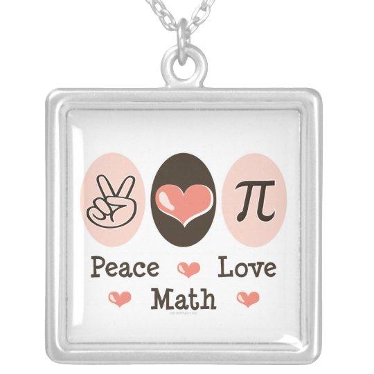 Peace Love Pi Necklace