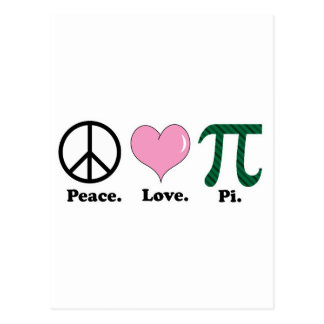 peace love pi post cards