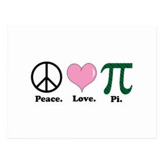 peace love pi postcards