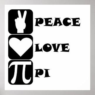 Peace Love Pi Poster