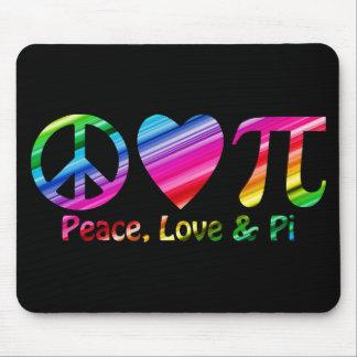 Peace, Love, Pi Rainbow Mouse Pad
