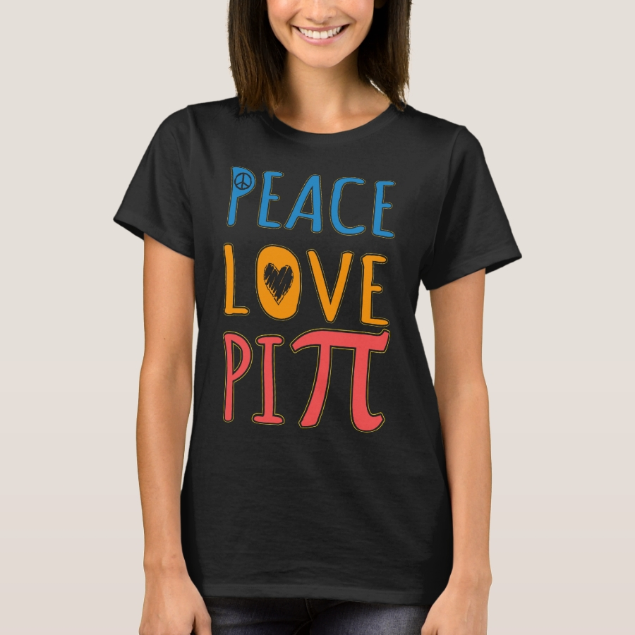 Peace Love Pi T-Shirt - Best Selling Long-Sleeve Street Fashion Shirt Designs