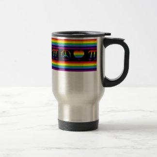 Peace Love Pi Travel Mug
