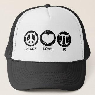 Peace Love Pi Trucker Hat