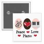 Peace Love Piano Button