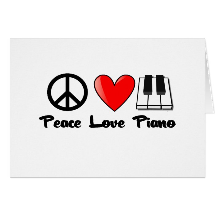 Peace, Love, Piano Card
