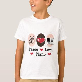 Peace Love Piano Kids T-shirt