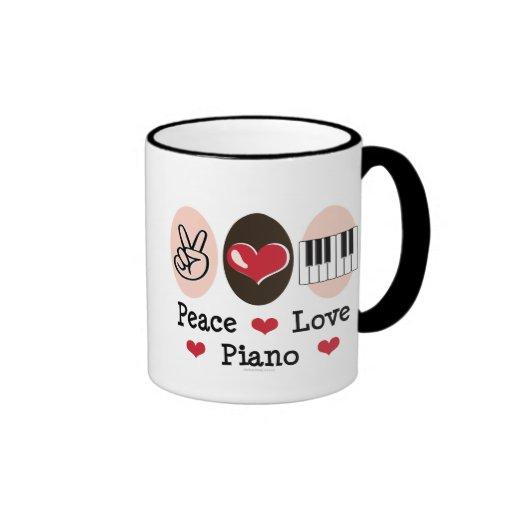 Peace Love Piano Mug
