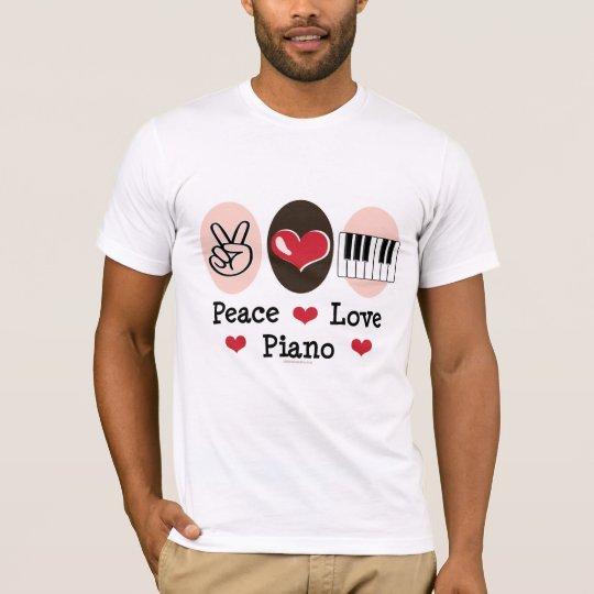 Peace Love Piano Tshirt