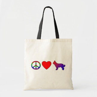 Peace Love Picardy Shepherds Tote Bags