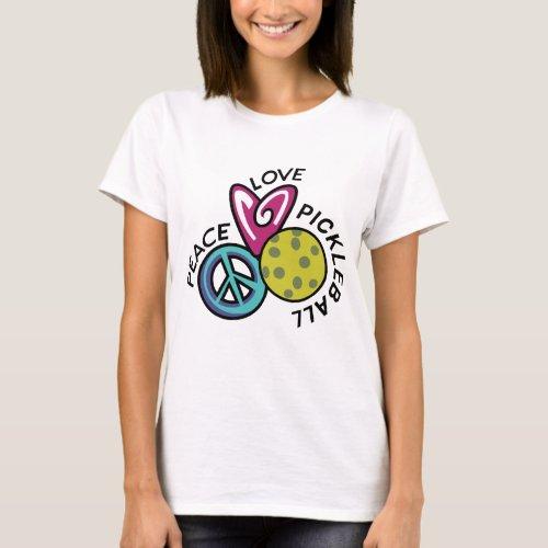 Peace Love Pickleball T_Shirt