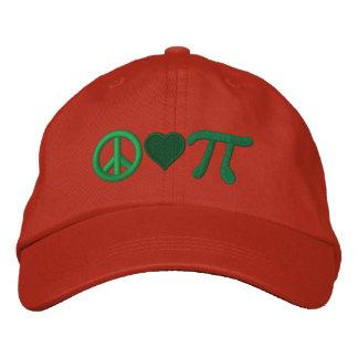 Peace Love Pie as in Pi Baseball Cap
