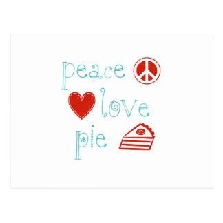 Peace Love Pie Postcard