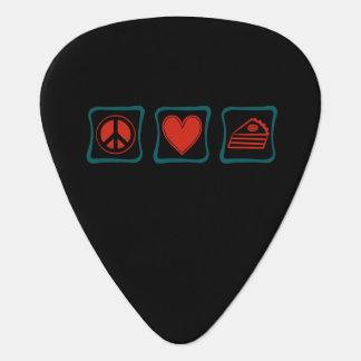 Peace Love Pie squares Guitar Pick