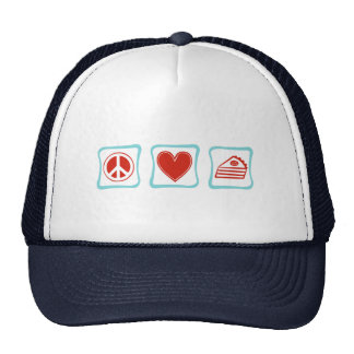 Peace Love Pie squares Trucker Hat