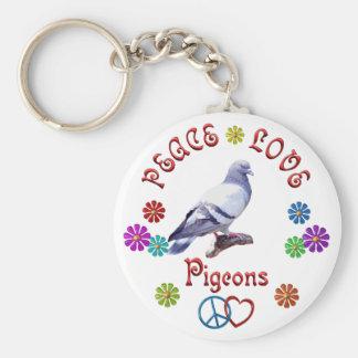 Peace Love PIGEONS Key Chains