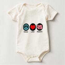 Peace Love Piggies Baby Bodysuit