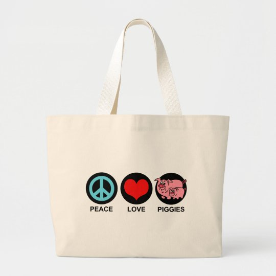 Peace Love Piggies Bag