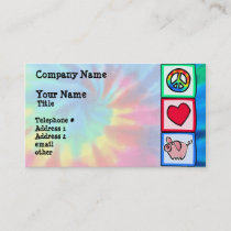 Peace, Love, Pigs Business Card
