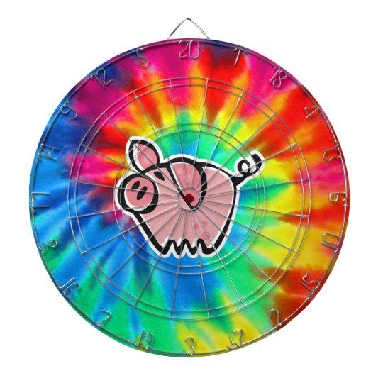 Peace, Love, Pigs Dartboard With Darts