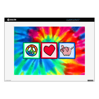 """Peace, Love, Pigs Decal For 15"""" Laptop"""