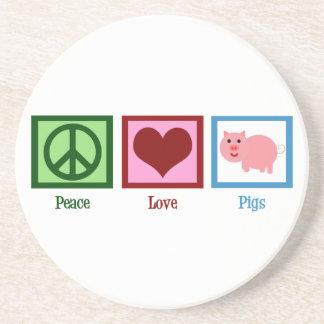 Peace Love Pigs Drink Coaster