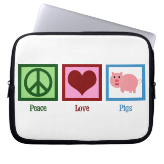 Peace Love Pigs Laptop Sleeve
