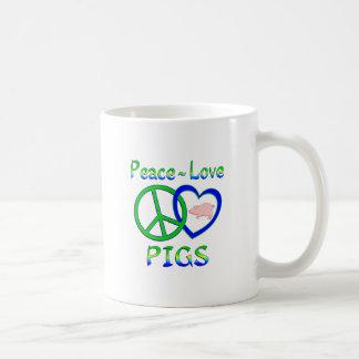 Peace Love Pigs Coffee Mug