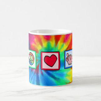 Peace, Love, Pigs Classic White Coffee Mug