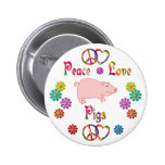 PEACE LOVE PIGS PINS
