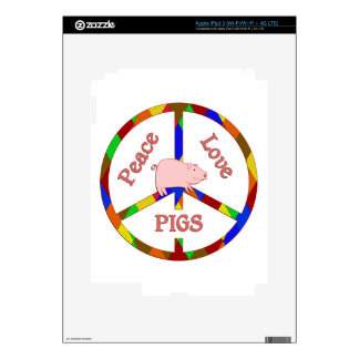 Peace Love Pigs Skins For iPad 3