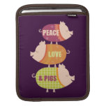Peace Love Pigs Stack Sleeves For iPads